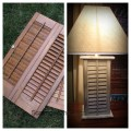 Lamp made from old Shutters