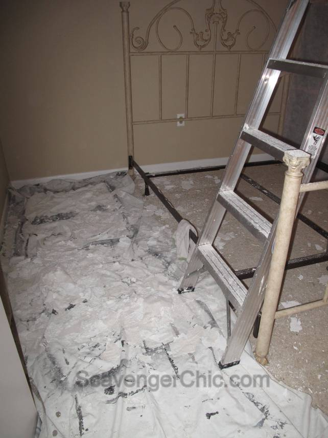 Removing a Popcorn Ceiling - Scavenger Chic