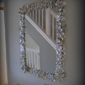 Oyster Shell Mirror diy
