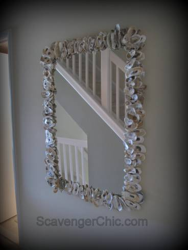 Oyster Shell Mirror diy