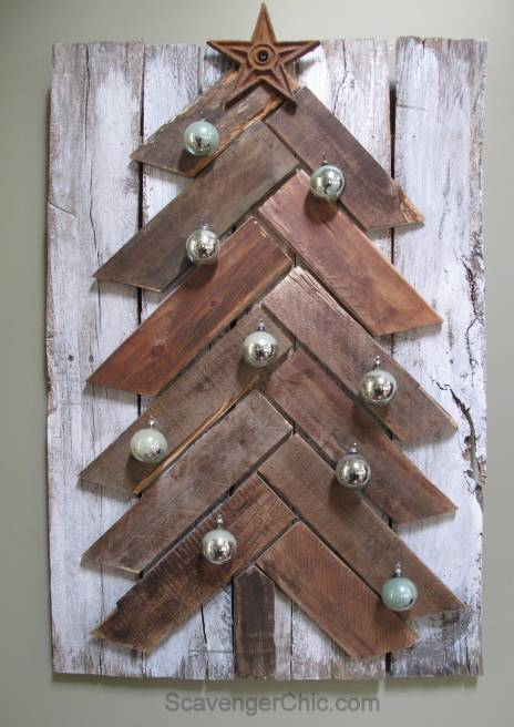 Easy diy Pallet Wood Christmas Tree-
