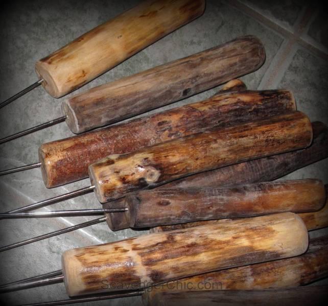 Wood marshmallow sticks diy, roasting sticks diy, camp fire forks, s'more sticks, roasting forks, hot dog forks, Roasting sticks for hotdogs and marshmallows