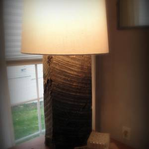 Railroad Tie Lamp diy