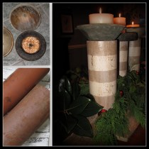 Terra Cotta Pipes and junk candle holders