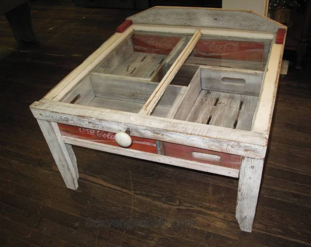 Coca cola crate coffee table, unique coffee table