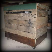 Pallet Wood Rolling Storage Cart