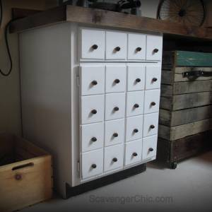 Faux Apothecary Cabinet diy