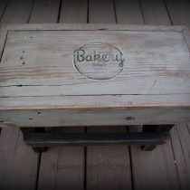 Step Stool, Footstool, Scrap Wood Projects.  Easy diy, logo transfer