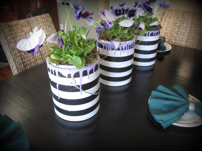 Recycled, Repurposed, Upcycled Paint Can...planter