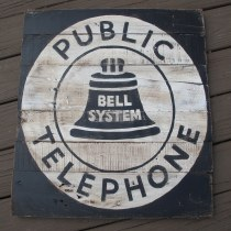 Vintage Style Telephone Sign diy