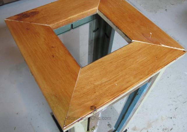 Lantern diy upcycled for old shutters