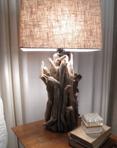 Driftwood Lamp diy, no wiring required