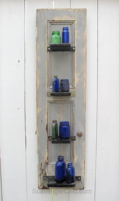 Upcycled Mortise Locks Shelves