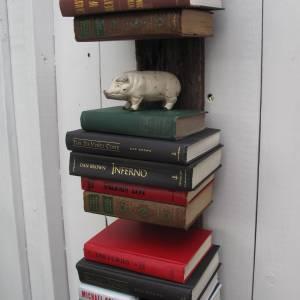 Repurposed Books, bookshelf