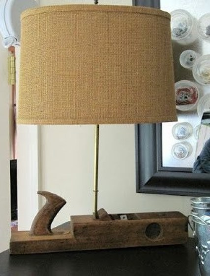 Woodworking Planer Repurposed- Lamp