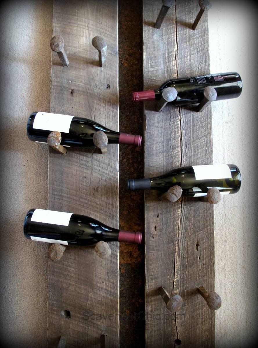 Railroad Spike Wine Rack Diy Scavenger Chic