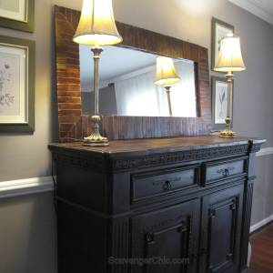 Pier 1 Inspired Pallet Wood Mirror diy