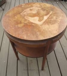 Painted Side Table Makeover