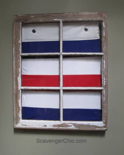 Signal Flag and Old Window wall decor-001