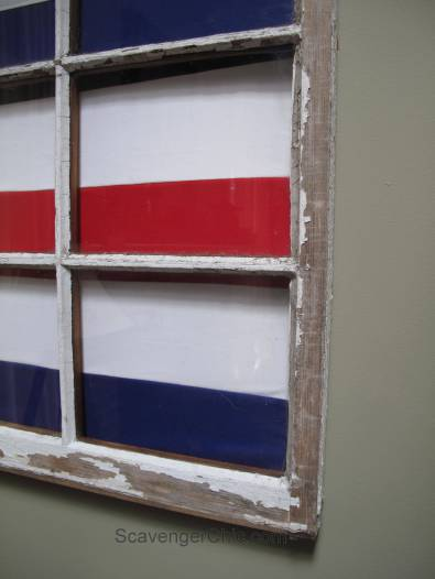 Signal Flag and Vintage Window beach decor-001