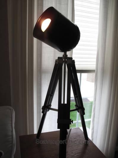 Tripod Spotlight Lamp diy-007