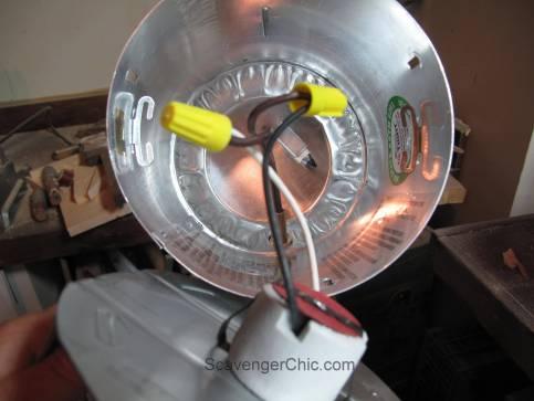 Tripod Spotlight Lamp diy wiring