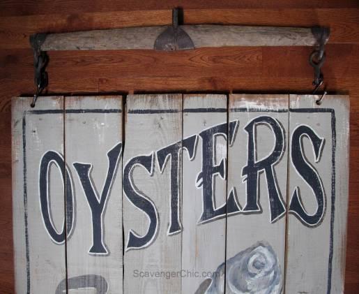 Vintage Oyster Sign diy-001