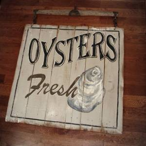 Vintage Style Oyster Sign