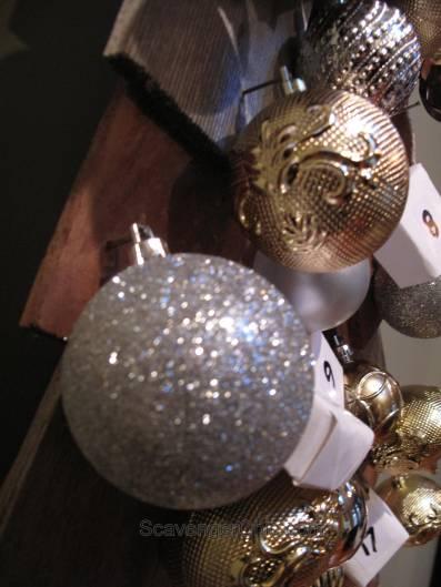 Advent Calendar Christmas tree, cedar shingles, wood Christmas tree