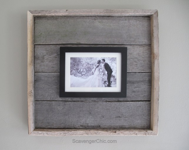 Easy diy Pallet Wood Frame-011
