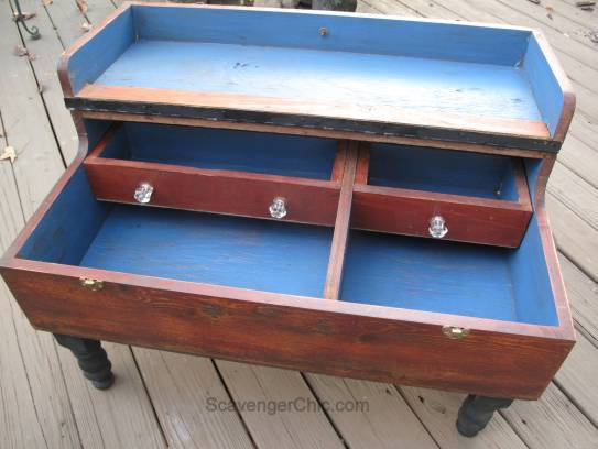 Recycled, Upcycled, Repurposed Machinists Tool Box coffee Table
