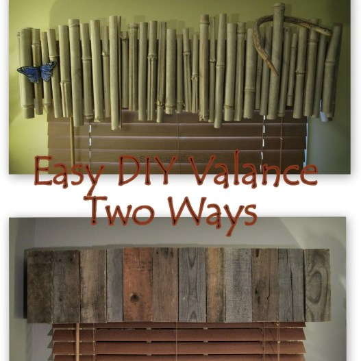 Easy diy valance two ways, pallet wood and bamboo valances
