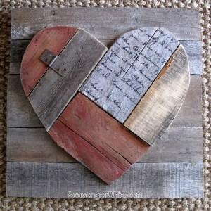 Rustic Pallet Wood Heart