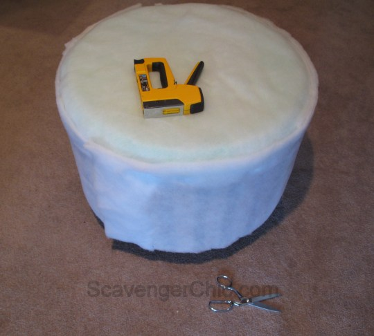 Upcycled Wire Spool Ottoman-010