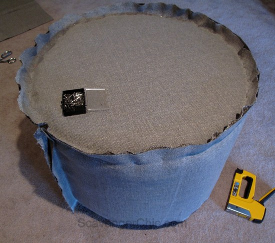 Upcycled Wire Spool Ottoman-012