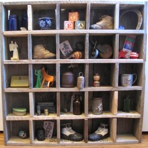 Pallet Wood Cubby Shelves