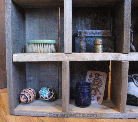 Reclaimed Pallet Wood Cubby Organizer Wall Shelves