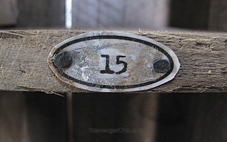 Vintage Metal Numbers from a soda can DIY