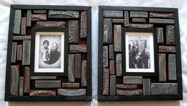 Vintage Printer Blocks diy Frame