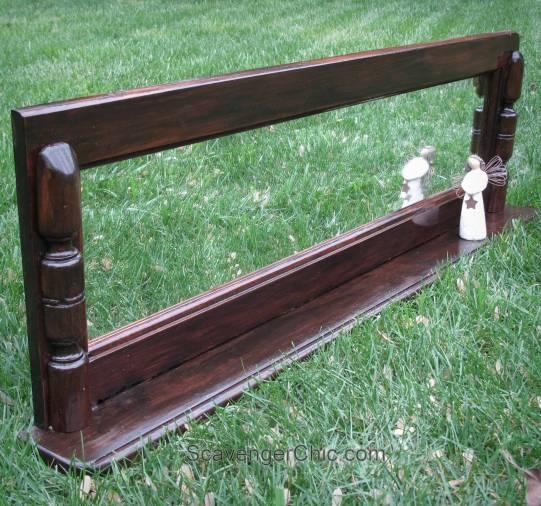 Horizontal Wood Mirror and Display Shelf diy