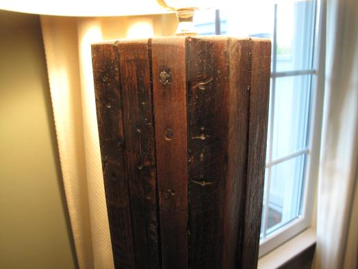 Reclaimed Wood, Pallet Wood Lamp diy