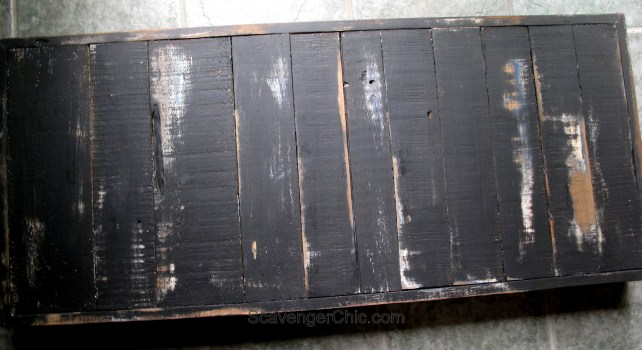 Clothes wringer coffee table Pallet top