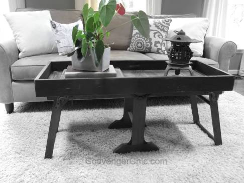 Upcycled Antique Clothes Wringer and Pallets Coffee Table