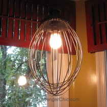 Upcycled Wire Whisk, Beater, Wire Whip, Pendant Light-004