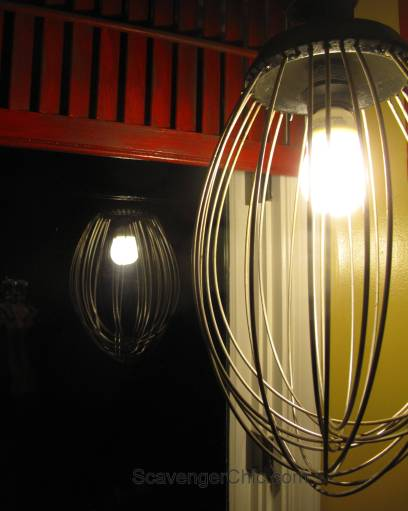 Upcycled Wire Whisk, Beater, Wire Whip, Pendant Light-008