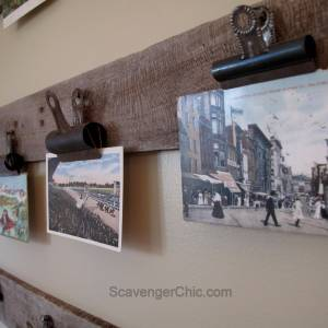 Pallet Wood Postcard Display
