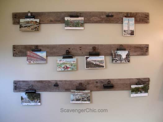 Easy Pallet Wood Postcard Display
