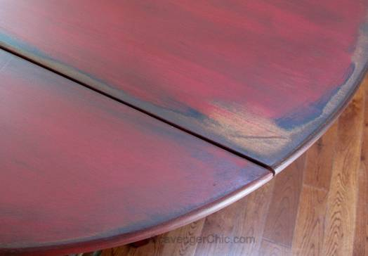 Little Red Drop Leaf Table-006