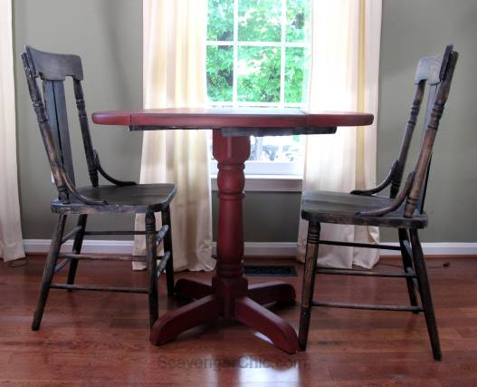Little Red Drop Leaf Table-008