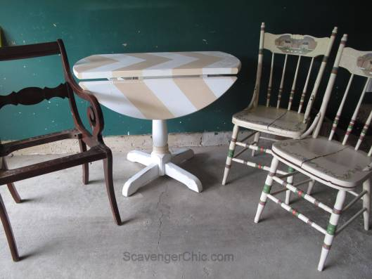 Little Red Drop Leaf Table
